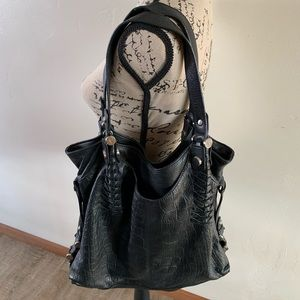 Makowsky black leather bag